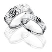 Matching Tree Bark Wedding Ring Set