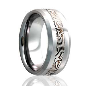 Woodgrain Mokume Gane Inlay Ring