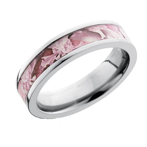 5 mm Titanium Pipe Cut Camo Ring