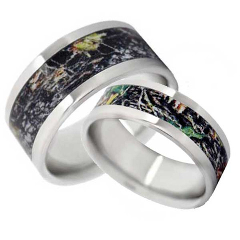 Mossy Oak or Realtree His & Hers Camo Rings