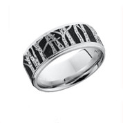 9mm Cobalt Chrome Tree Lined Scenic View Ring