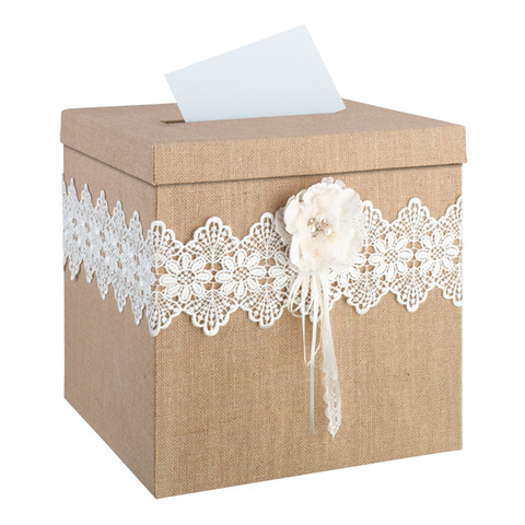 Wedding gift card box for a rustic, country or camo themed special day
