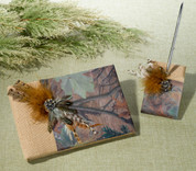 Camo Wedding Guest Book & Pen Set