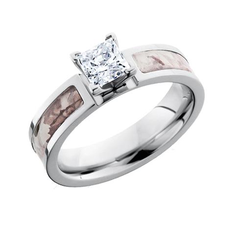 Nice Snow Camo Diamond Engagement Ring | Free Shipping | CAMOKIX