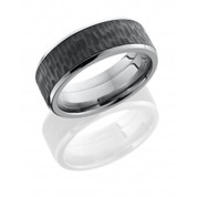Treebark Titanium Band with Zirconium Center