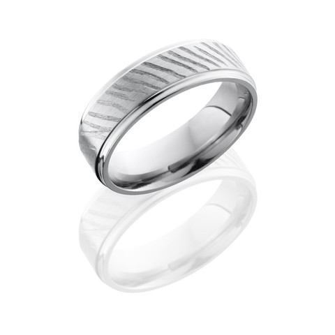 7mm Grooved Edge Titanium Disc Ring