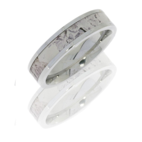 5mm Cobalt Chrome flat band with 3mm Kings Snow camo