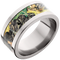 10mm Titanium Flat Band with Mossy Oak® New Break-Up Inlay