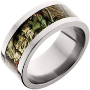 10mm Titanium Flat Band with Mossy Oak® Break-up Infinity Inlay