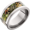 10mm Titanium Flat Band with Mossy Oak® Obsession Inlay