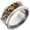 10mm Titanium Flat Band with Mossy Oak® Shadow Grass Inlay