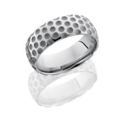 8mm Domed Cobalt Chrome Golf Ring in Sand Polish Finish