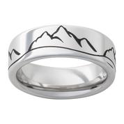 8 mm Vitalium Mountain Ring