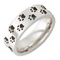 Serinium Pipe Cut Cougar Tracks Ring