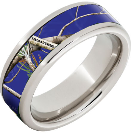 Blue Camo Wedding Ring CAMOKIX
