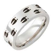 8mm Deer Animal Tracks Ring