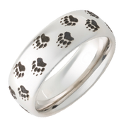 8mm Bear Animal Tracks Ring