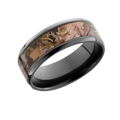 beveled edge 8mm camo ring