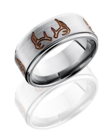 4x Antler Titanium ring