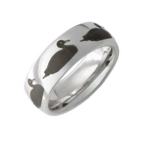 8mm Vitalium Duck Wedding Band