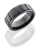 8mm Bead Polished Black Zirconium Gear Spinner Ring