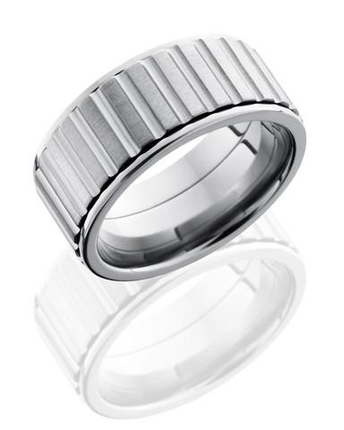 10mm Satin Polish Gear Spinner Ring