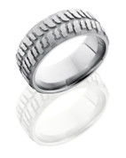 8mm Mud Bogger Sandblast Titanium Ring