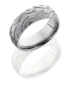 8mm Tire Tread Sandblasted Ring