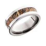 8 mm polished flat camo ring