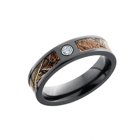 Black Camo Ring For Her With Diamond Free Shipping CAMOKIX