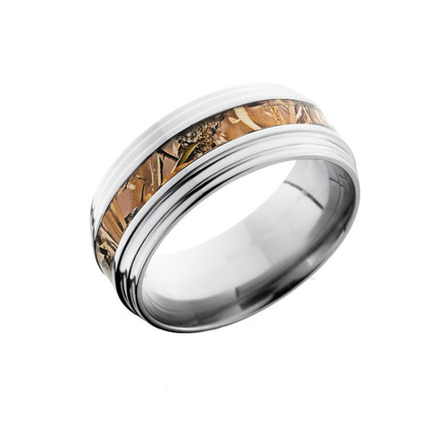 9mm Double Grooved Edge Camo Ring