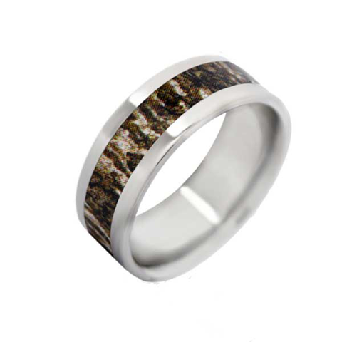 mossy oak bottomland flat camo ring - Mossy Oak Wedding Rings