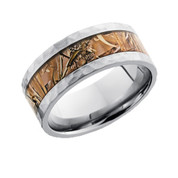 9 mm Camo Ring with Hammered Finish
