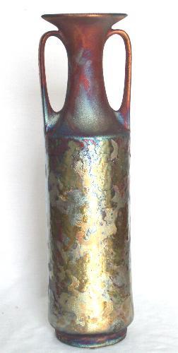 115 Two Handled Vase Raku Art Inc