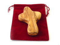 Olive Wood Palm Cross- Holding Cross