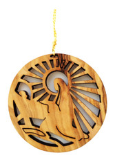 Bethlehem Olive Wood Nativity Ornament (LZO-121)