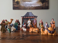 Bethlehem Nativity Company- Complete Nativity Set 26 Pieces about 7 inches in height