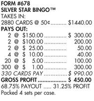 Silver Star Bingo 678