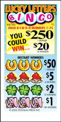 Lucky Letters Bingo 4780