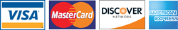 Visa, Mastercard, Discover and American Express accepted for Payment