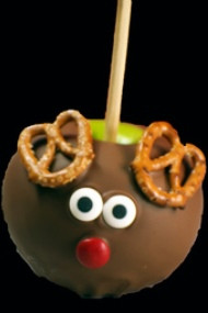 Milk Chocolate Red Nose Raindeer Caramel Apple
