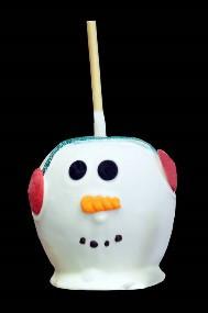 White Chocolate Snowman Caramel Apple