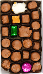 Create a box with your own selection of up to eight chocolates and caramels!
