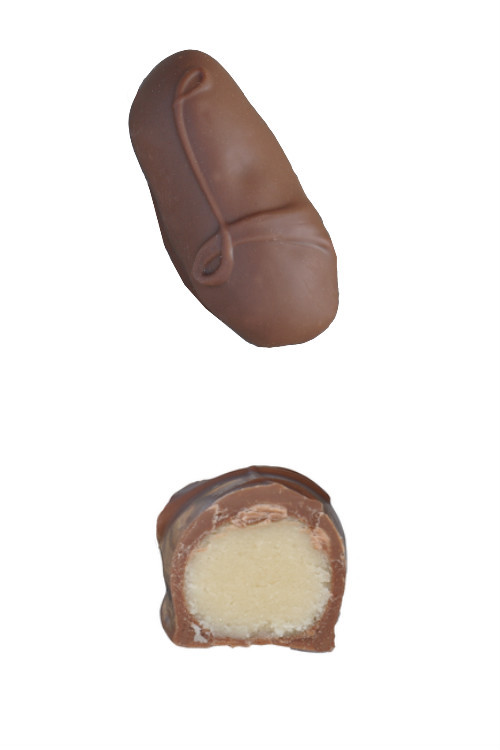 Marzipan Chocolate - top and side view