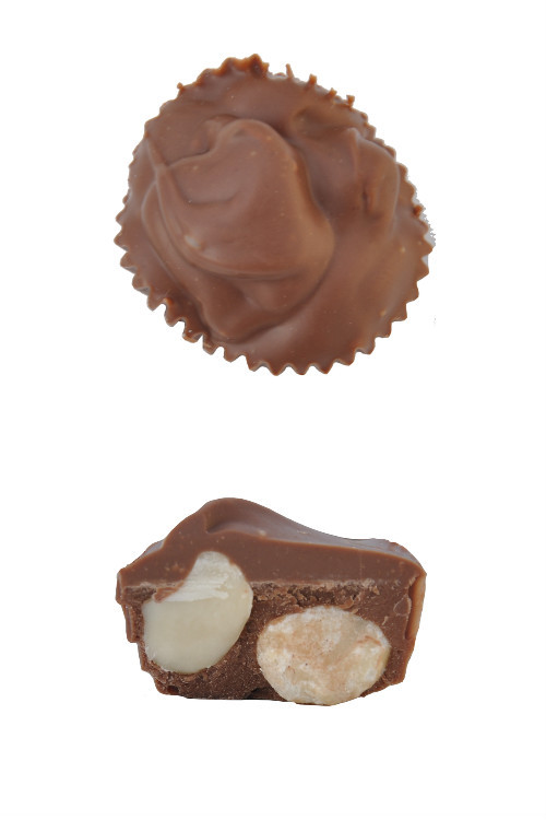 Macadamia Nut Cluster top and side view