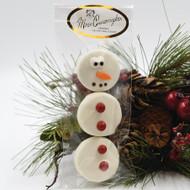 white chocolate oreo snowman
