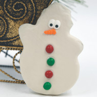 White chocolate coated Mindy Mint Snowman