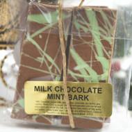 Milk chocolate mint bark