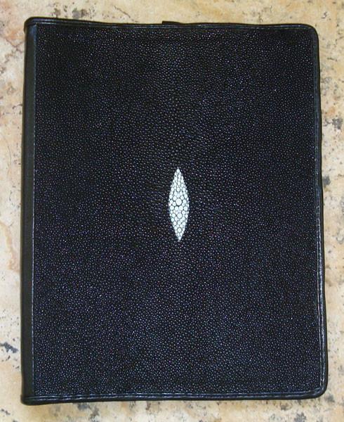 PADFOLIO - Genuine STINGRAY SKIN - Handmade in the USA.