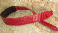 CUSTOM GUITAR STRAP - ALLIGATOR SKIN - RED - 3""